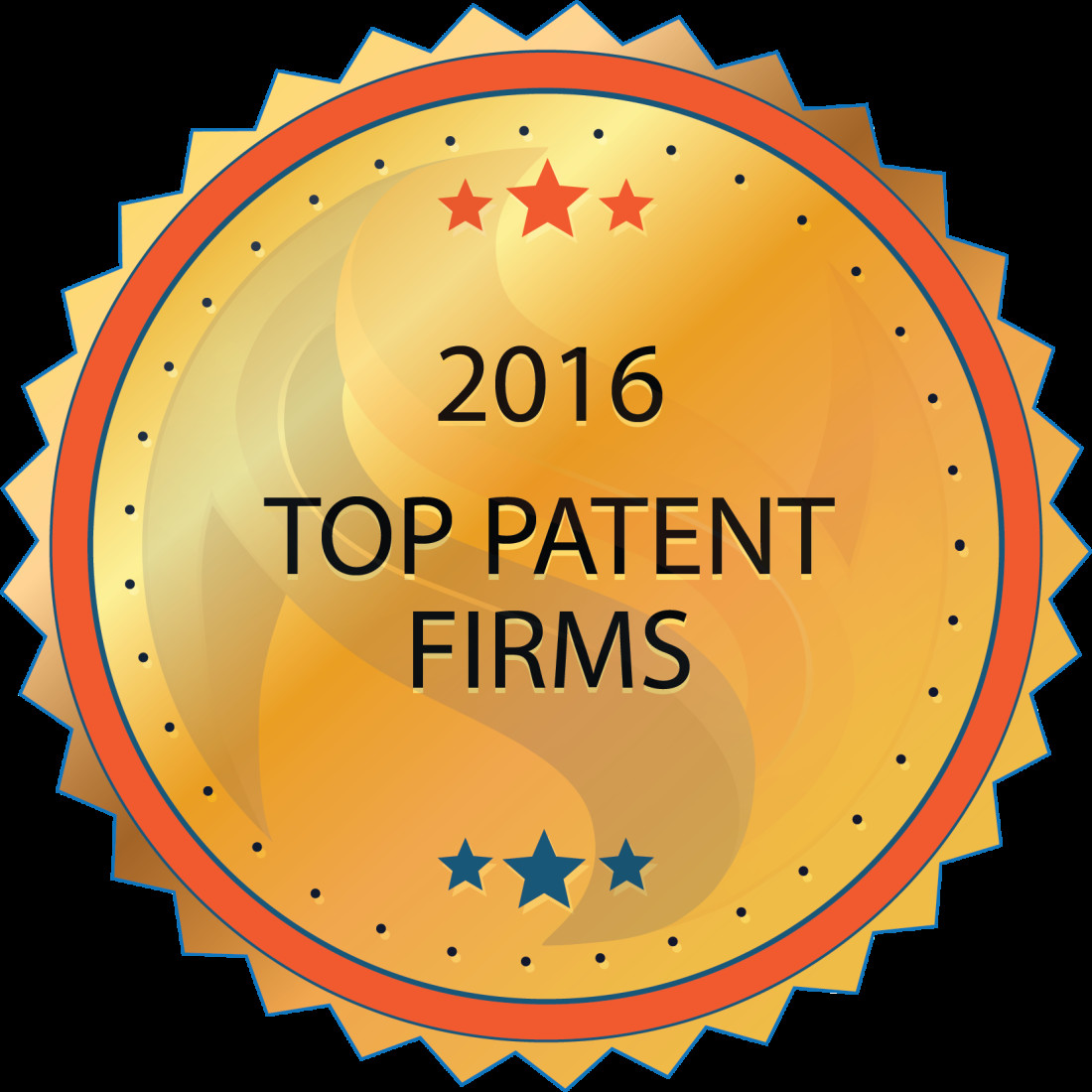 Top Patent Firms 2016 badge