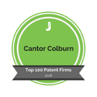 Cantor Colburn's Juristat Top Patent Law Badge 2018