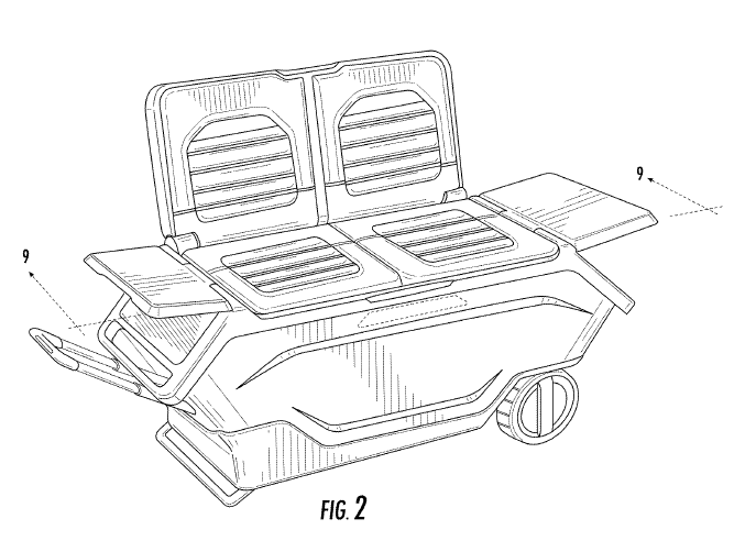 Patent Drawing of Golic Cooler