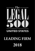 Legal 500 USA Leading Firm 2018 badge graphic