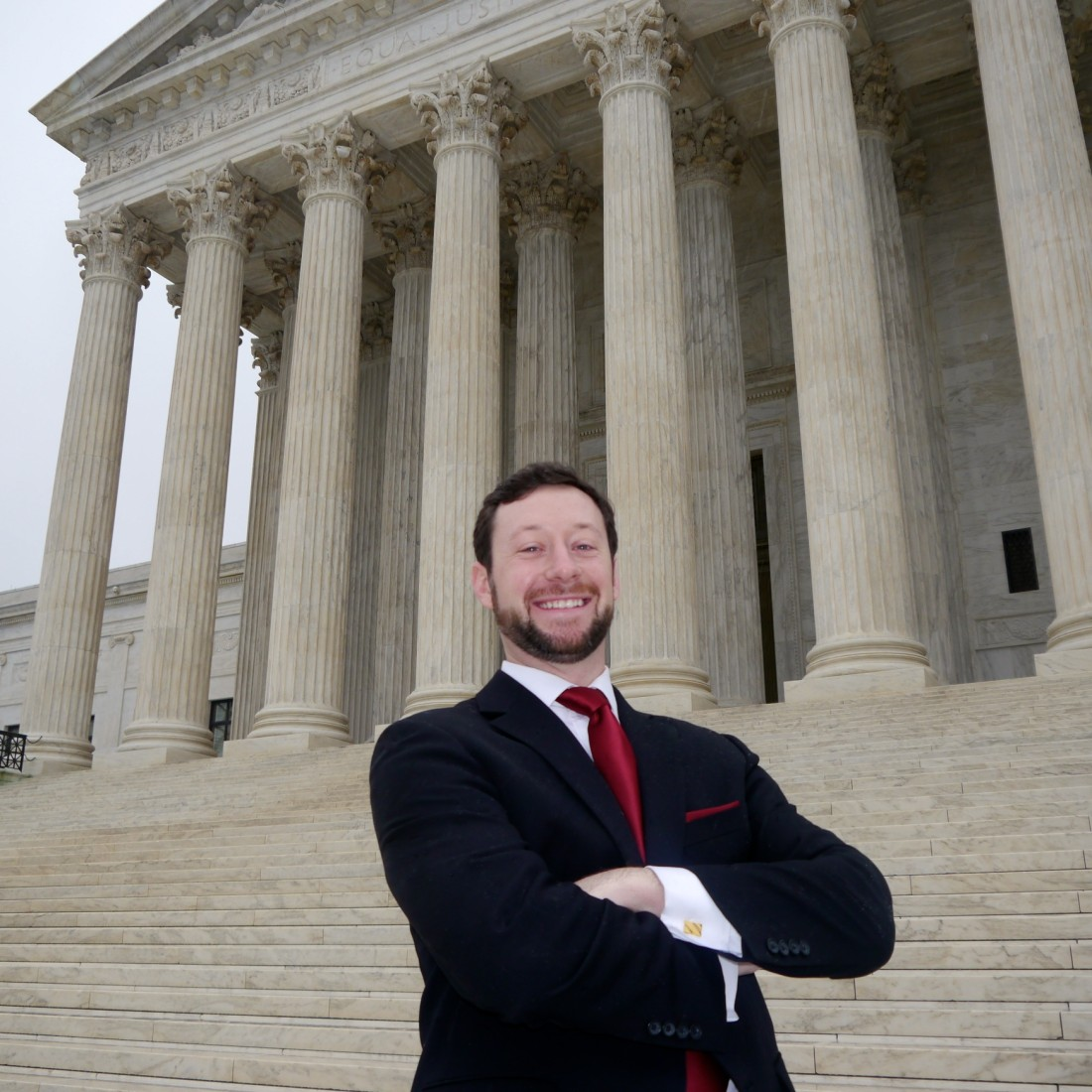 Patrick Griffin, Cantor Colburn, in front of the U.S. Supreme Court Building