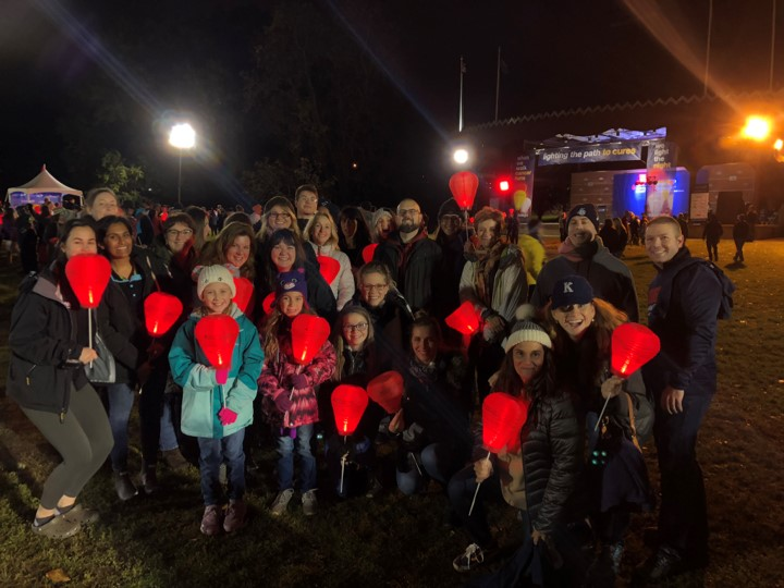 Team Cantor Colburn at Light the Night 2019 photo