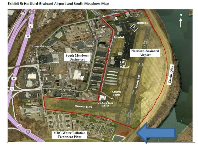 Photo of Hartford Brainard Airport and South Meadows Map