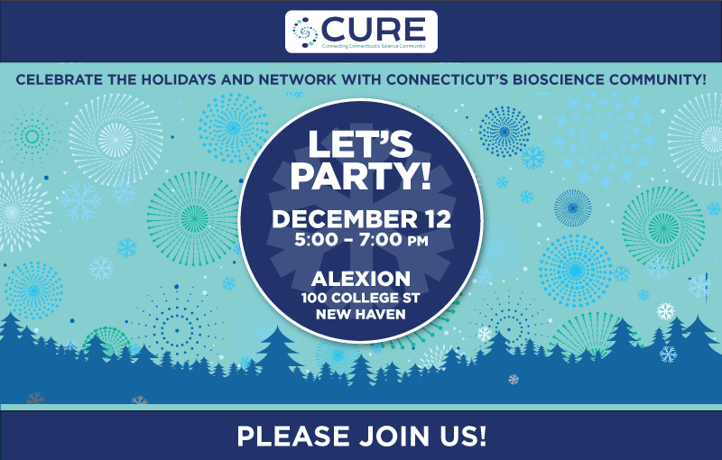 CURE holiday party 2017 flyer