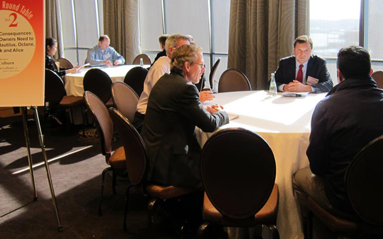 Phil Colburn leading an IP roundtable discussion photo