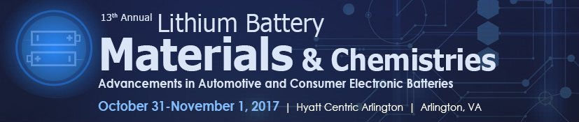 Lithium Battery Materials & Chemistries 2017 Conference logo